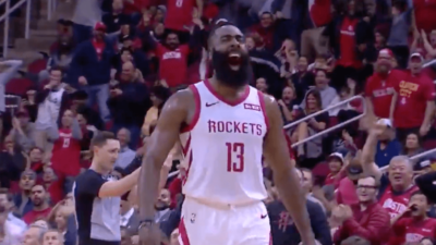 James Harden celebration Houston Rockets
