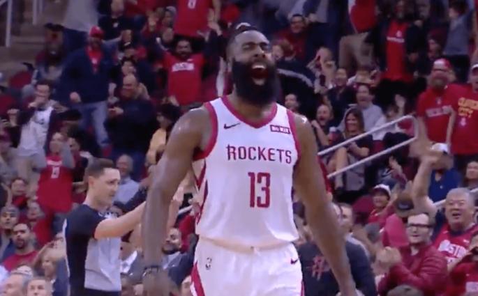 James Harden celebration Houston Rockets