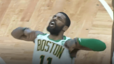 Kyrie Irving Celtics Raptors celebration