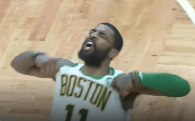 Kyrie Irving Celtics Raptors celebration