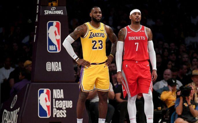 LeBron James Carmelo Anthony