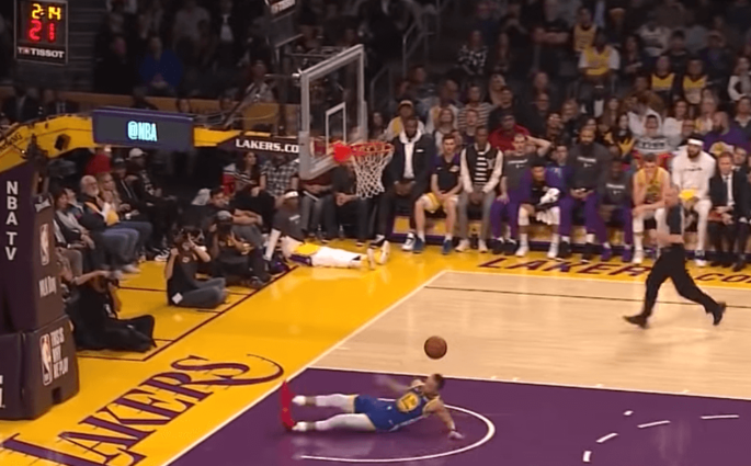 Stephen Curry lakers fail