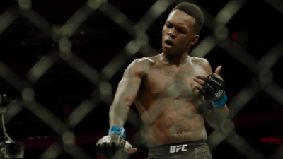 Israel Adesanya celebration
