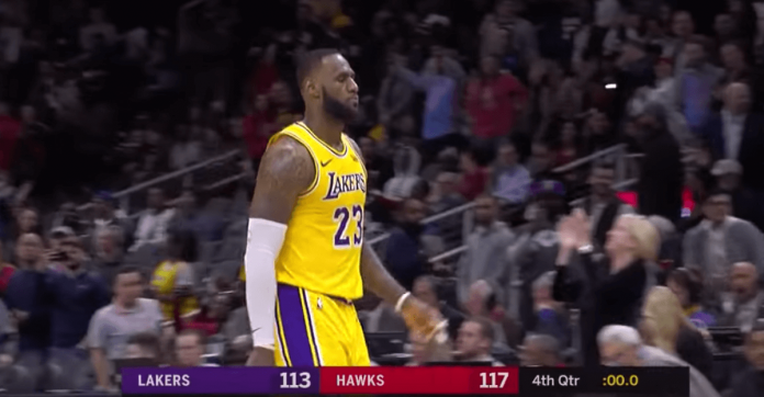 LeBron James Lakers Hawks