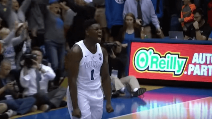 Zion Williamson Celebration