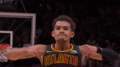 Trae Young celebration