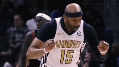 Vince Carter celebration Atlanta Hawks
