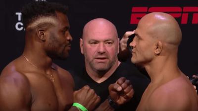 UFC Francis Ngannou Junior Dos Santos resultats