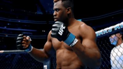 Francis Ngannou UFC Cage