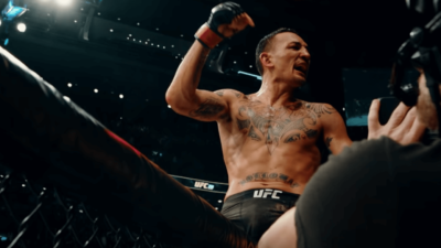 Max Holloway UFC celebration