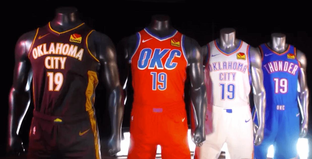 reputable site 20aa3 3d9f9 NBA - Oklahoma City Thunder dévoile ses nouveaux maillots !