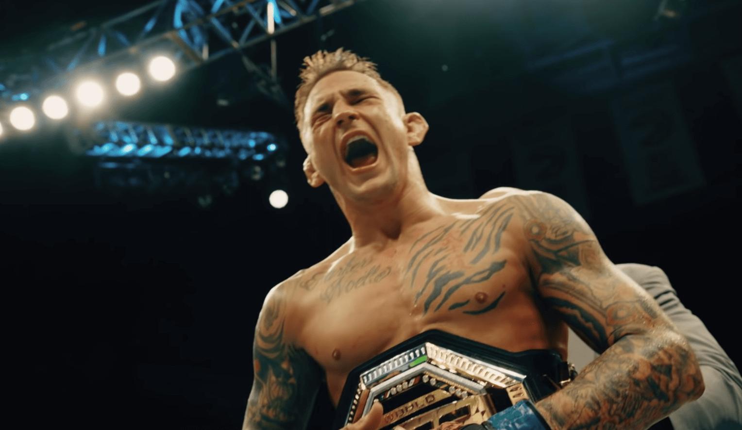 Dustin Poirier UFC celebration