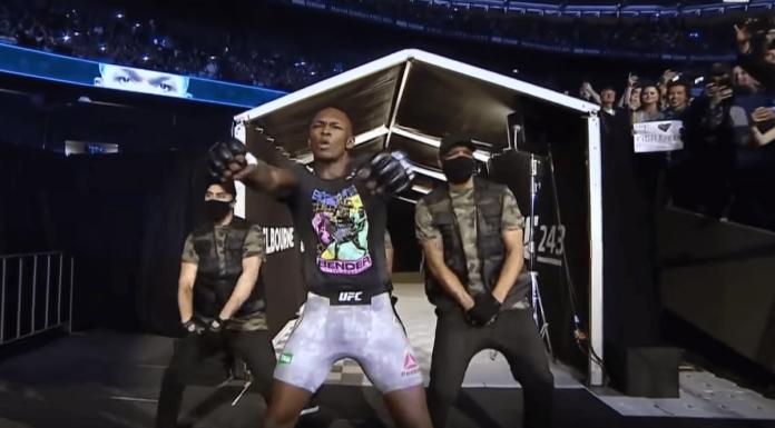 Israel Adesanya UFC 243 entrance