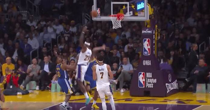 LeBron James assist Lakers Warriors