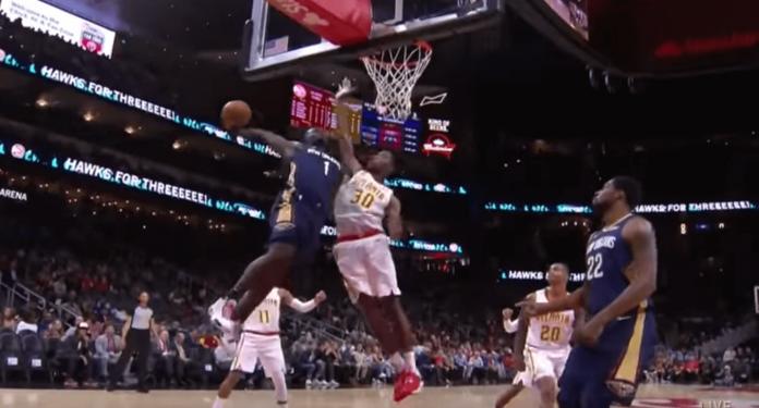 Zion Williamson dunk Pelicans