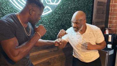 Francis Ngannou Mike Tyson