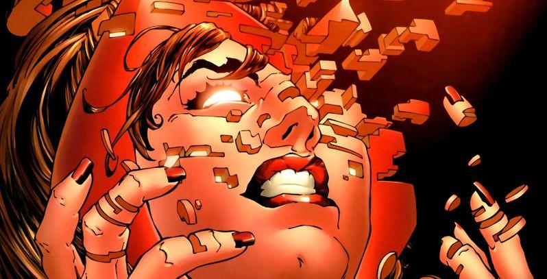 La Sorcière Rouge en pleine crise de folie