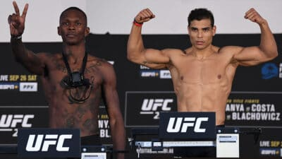 UFC 253 Adesanya v Costa: Weigh-Ins