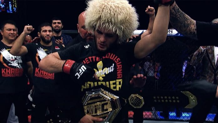Khabib Nurmagomedov UFC celebration belt