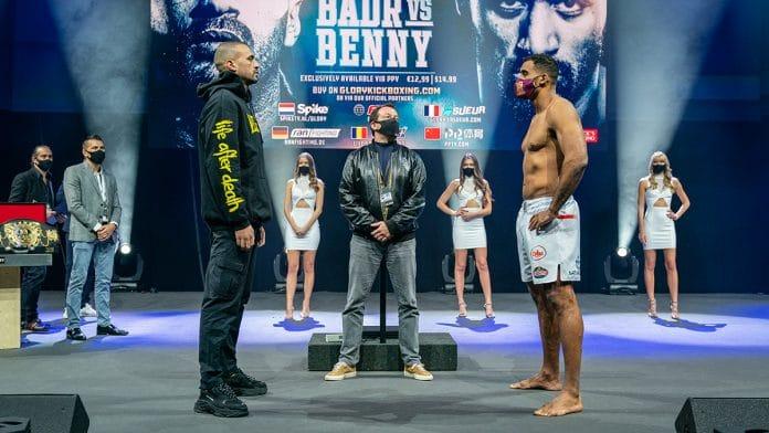 GLORY 76 Badr Hari vs. Benny Adegbuyi pesee weigh ins