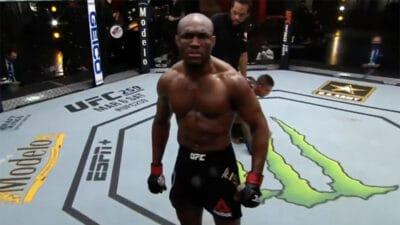 Kamaru Usman TKO Gilbert Burns UFC 258
