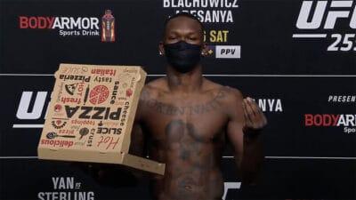 Israel Adesanya UFC 259 weigh ins