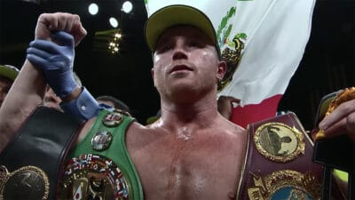 Canelo Alvarez celebration
