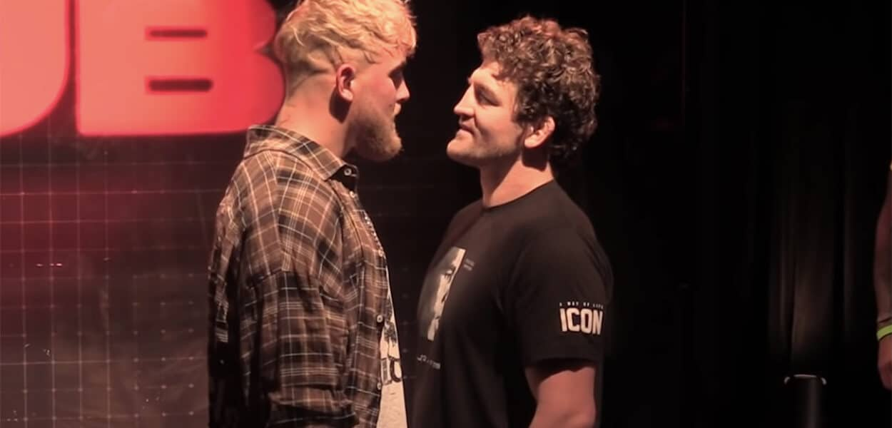 Jake Paul Ben Askren face off boxe