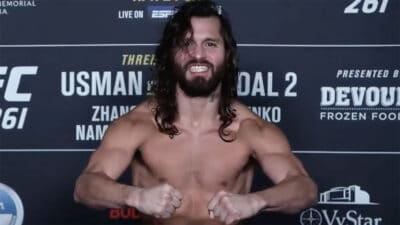 Jorge Masvidal UFC 261 weigh ins pesee