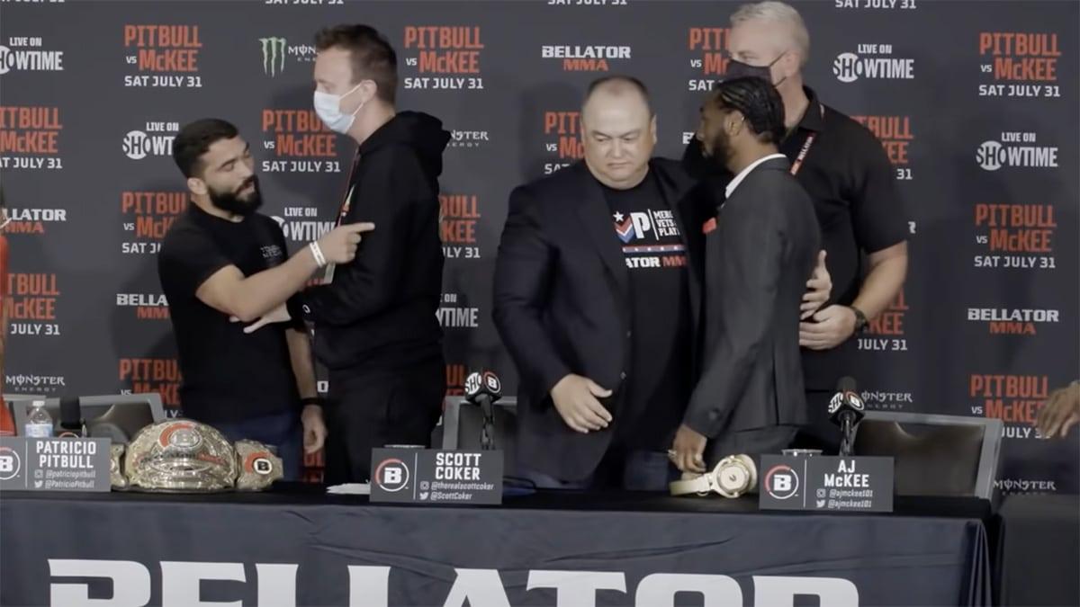 Bellator - Patricio Pitbull quitte la conférence de presse ...