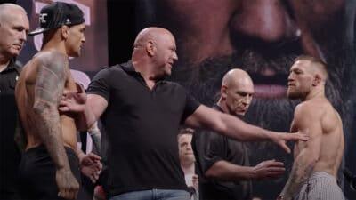 Conor McGregor Dustin Poirier Pesee UFC 264