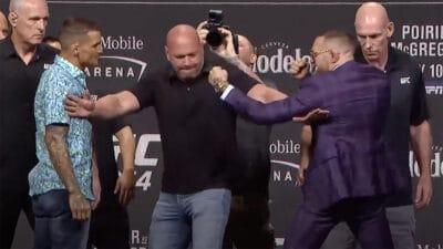 Conor McGregor Dustin Poirier UFC 264 press conference