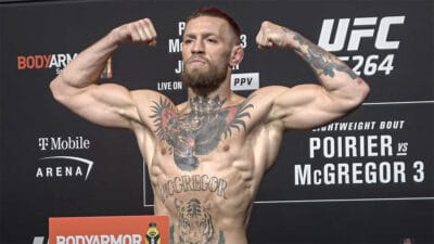 Conor McGregor UFC 264 pesee