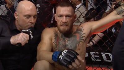 Conor McGregor blessure UFC 264