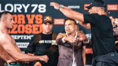 Badr Hari GLORY 78 weigh ins push wrzosek