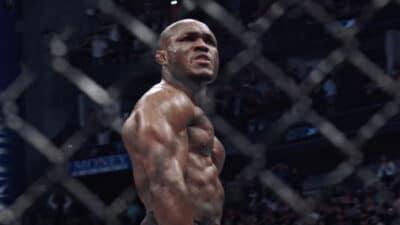 Kamaru Usman UFC celebration